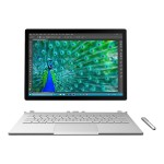 "Microsoft Surface Book - Tablet - with detachable keyboard - Core i5 6300U / 2.4 GHz - Win 10 Pro 64-bit - 8 GB RAM - 128 GB SSD - 13.5"" touchscreen 3000 x 2000 - HD Graphics 520 - Wi-Fi - silver - kbd: English - North America - academic W45-00001"