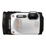 Stylus Tough TG-860 - Digital camera - High Definition - 60 fps - compact - 16.0 MP - 5 x optical zoom - Wi-Fi - underwater up to 45 ft - white