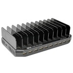 TrippLite 10 Port USB Charger with Built-In Storage - 5V 2.4A Per Port - For iPhone, iPad, Smartphones & Tablets U280-010-ST