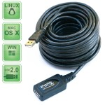 USB extension cable - USB (F) to USB (M) - USB 2.0 - 33 ft - active
