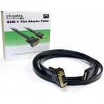 Video cable - HDMI / VGA - HDMI (M) to HD-15 (M) - 6 ft - flat