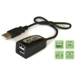 USB 2.0 2-Port Hub/Splitter