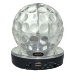 Supersonic Bluetooth Speaker & Mic with Disco Ball - Multiple Inputs & Rechargable Li-Ion Battery - Clear SC-1389BTCLR