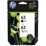 63 2-pack Black/Tri-color Original Ink Cartridges