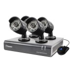 SWDVK-844004 - DVR + camera(s) - 8 channels - 1 x 1 TB - 4 camera(s)