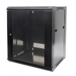"Intellinet Network Solutions Wall Mount Cabinet - Cabinet - wall mountable - black, RAL 9005 - 6U - 19"" 711715"