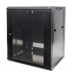 Cabinet - wall mountable - black, RAL 9005 - 12U - 19""