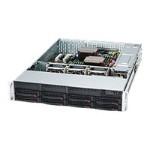 Supermicro SC825 TQC-R740LPB - Rack-mountable - 2U - enhanced extended ATX - SATA/SAS - hot-swap 740 Watt - black