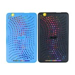 Bumper Case - Back cover for tablet - black, blue (pack of 2) - for ICONIA ONE 8