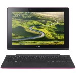 "Aspire Switch 10 E SW3-016-1275 - Tablet - with keyboard dock - Atom x5 Z8300 / 1.44 GHz - Win 10 Home 64-bit - 2 GB RAM - 64 GB eMMC - 10.1"" IPS touchscreen 1280 x 800 - HD Graphics - black, pink"