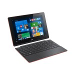 "Acer Aspire Switch 10 E SW3-016-17QP - Tablet - with keyboard dock - Atom x5 Z8300 / 1.44 GHz - Win 10 Home 64-bit - 2 GB RAM - 64 GB eMMC - 10.1"" IPS touchscreen 1280 x 800 - HD Graphics - black, red NT.G8XAA.002"