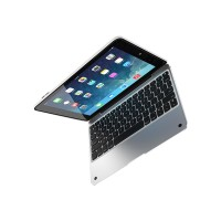 Incipio ClamCase Pro - Keyboard and folio case - Bluetooth - white, silver - for Apple iPad mini 4 IPD-265-WSLV