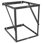 "8U 12U 22U 2 Post Open Frame Rack Cabinet Expandable 23.5"" Depth"