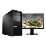 ThinkStation P310 30AT - Tower - 1 x Xeon E3-1245V5 / 3.5 GHz - RAM 16 GB - SSD 256 GB - TCG Opal Encryption - DVD-Writer - HD Graphics P530 - GigE - Win 7 Pro 64-bit (includes Win 10 Pro 64-bit License) - monitor: none