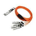 Network cable - SFP+ (M) to QSFP+ (M) - 33 ft - active