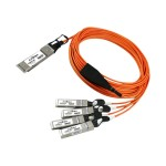 Network cable - SFP+ (M) to QSFP+ (M) - 16.4 ft - active