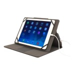Stealth Power - Battery case for tablet - microfiber leather - black