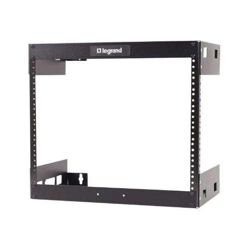 PCM   C2G, 8U Wall Mount Open Frame Rack - 18in Deep (TAA Compliant) - Rack  - wall mountable - black - 8U - 19