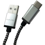 USB-C Male to USB-A Male Braided Cable, 6ft (Silver)
