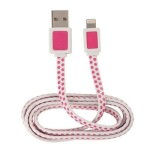 Apple Lightning 3 ft Power and Sync Cable - Pink Polka Dot
