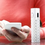 AR for her Powerbank w/ LED Flashlight - White Diamond Pattern