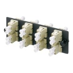 Opticom Fiber Adapter Panels - Patch panel - electric ivory - 8 ports