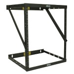 "8U 12U 22U 2 Post Open Frame Rack Cabinet Expandable 11.5"" Depth"