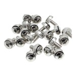 M6 x 12mm - Screws - 100 Pack - M6 Mounting Screws for Server Rack & Cabinet