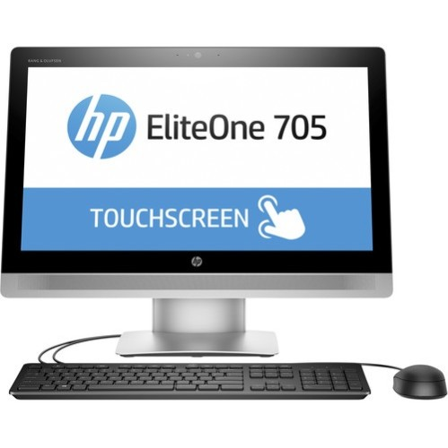 EliteOne 705 G2 - All-in-one - 1 x A8 PRO-8650B / 3.2 GHz - RAM 4 GB - HDD 500 GB - DVD SuperMulti - Radeon R7 - GigE - WLAN: Bluetooth 4.0, 802.11a/b/g/n/ac - Win 7 Pro 64-bit - monitor: LED 23