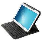 "QODE SlimStyle Universal Keyboard Case - Adjusts to snugly hold virtually all tablets up to 10"" including the iPad Air 2 - Water Repellent Material - Black"