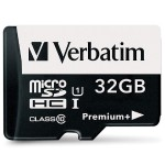 Verbatim 32GB PremiumPlus 533X microSDHC Memory Card with Adapter, UHS-I Class 10 98741