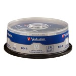 Verbatim M-Disc BD-R 25GB 4X with Branded Surface – 25pk Spindle 98909