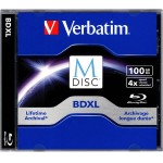 Verbatim M-Disc BDXL 100GB 4X with Branded Surface - 1pk Jewel Case 98912