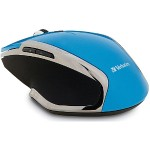 Wireless Notebook 6-Button Deluxe Blue LED Mouse – Blue
