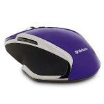Wireless Notebook 6-Button Deluxe Blue LED Mouse – Purple