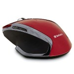 Wireless Notebook 6-Button Deluxe Blue LED Mouse – Red