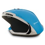 Wireless Desktop 8-Button Deluxe Blue LED Mouse – Blue