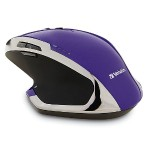 Wireless Desktop 8-Button Deluxe Blue LED Mouse – Purple