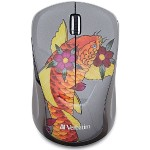 Wireless Notebook Multi-Trac Blue LED Mouse, Tattoo Series – Koi