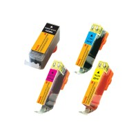 eReplacements Kodak - 4-pack - High Yield - black, yellow, cyan, magenta - remanufactured - ink cartridge (alternative for: Canon CLI-221Y, Canon CLI-221M, Canon CLI-221C, Canon PGI-220BK) - for Canon PIXMA iP3600, iP4600, iP4700, MP560, MP620, MP640, MP980, MP990, MX8 2945B011-KD