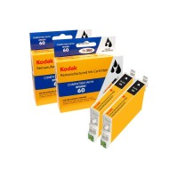 eReplacements Kodak - 2-pack - High Yield - black - remanufactured - ink cartridge ( equivalent to: Epson T0601 ) - for Epson Stylus C68, C88, C88+, CX3800, CX3810, CX4200, CX4800, CX5800F, CX7800 T060120BK2-KD