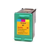 eReplacements Kodak High Yield triColor Remanufactured Ink Cartridge Replacement for HP 97 for use with HP OfficeJet 100, 150, H470; PhotoSmart 26XX, 27XX, 375, 42X, 81XX, 84XX, 87XX; psc 23XX C9363WN-KD