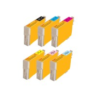 eReplacements Kodak - 6-pack - High Yield - black, yellow, cyan, magenta, light magenta, light cyan - remanufactured - ink cartridge (alternative for: Epson T098120) - for Epson Artisan 700, 710, 725, 730, 800, 810, 835, 837 T098120-BCS-KD