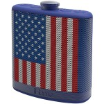 iHome Rechargeable Flask-Shaped Bluetooth Stereo Speaker - US Flag IBT12AMFLXC