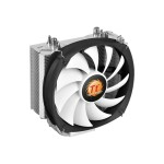 ThermalTake Frio Silent 14 - Processor cooler - ( LGA775 Socket, LGA1156 Socket, Socket AM2, Socket AM2+, LGA1366 Socket, Socket AM3, LGA1155 Socket, Socket AM3+, LGA2011 Socket, Socket FM1, Socket FM2, LGA1150 Socket ) - aluminum with copper base - 140 mm CL-P002-AL14BL-B
