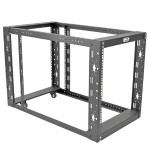 "12U 4-Post Open Frame Rack 1000lb Capacity 36"" Depth"