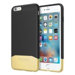 Edge Chrome Hard Shell Slider Case with Chrome Finish for iPhone 6 Plus / iPhone 6s Plus - Black/Gold
