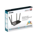 D-Link DIR-842 - Wireless router - 4-port switch - GigE - 802.11a/b/g/n/ac - Dual Band DIR-842