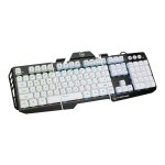 Kaliber Gaming by  HVER Aluminum Gaming Keyboard - Keyboard - backlit - imperial white