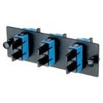 Patch panel - black, blue - 3 ports